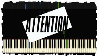 Charlie Puth - Attention   Piano Tutorial   Synthesia