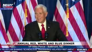 AMERICA IS WINNING AGAIN: VP Pence speaks at annual red, white & blue dinner
