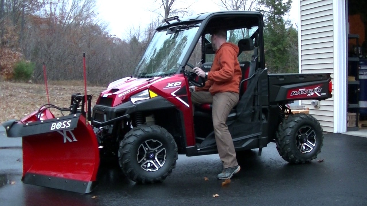 2016 Polaris Ranger W Boss Plow Youtube