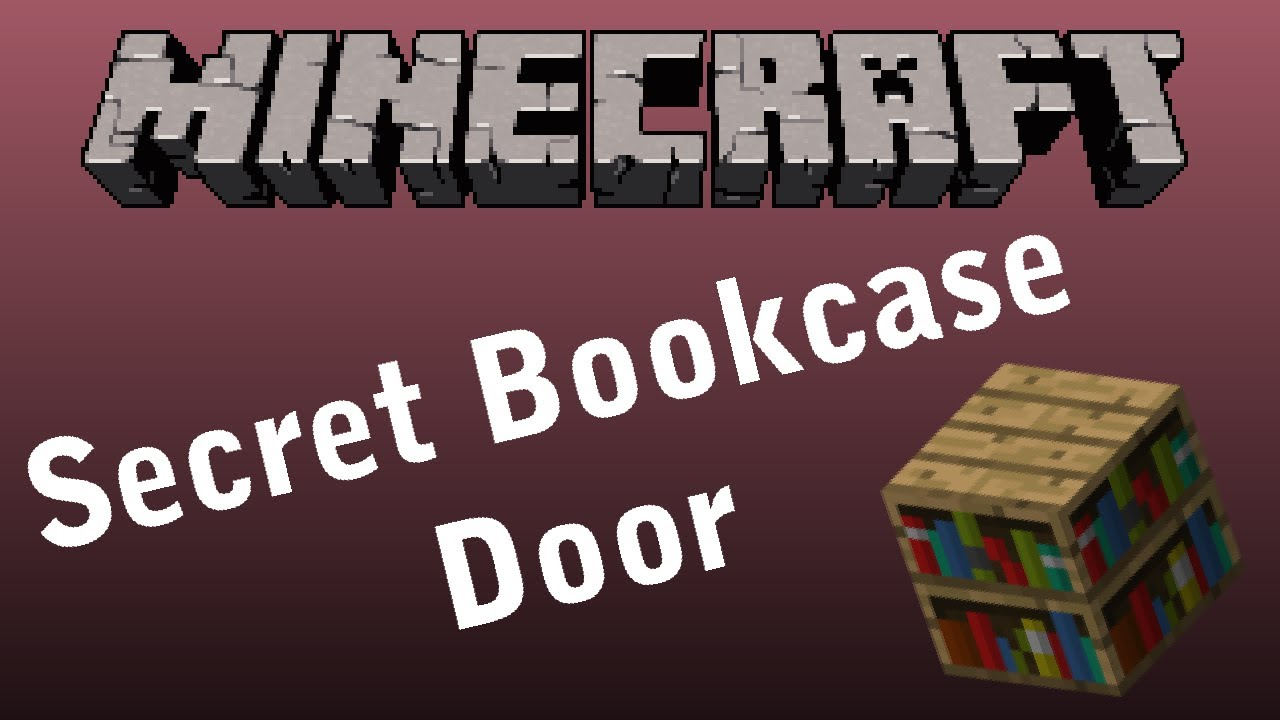 Minecraft Secret Bookcase Door Tutorial Beta 1 7 2