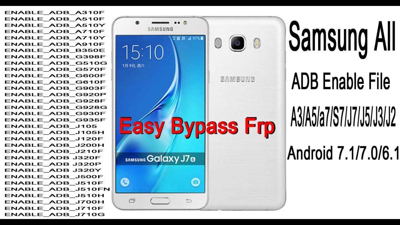 Samsung all ADB Enable File | For FRP Reset | A5,A6,j7,j5,j2 (2018)