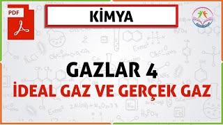 GAZLAR 4 (İDEAL GAZ VE GERÇEK GAZ)(2020 AYT)(11. SINIF GAZLAR)(YENİ MÜFREDAT)