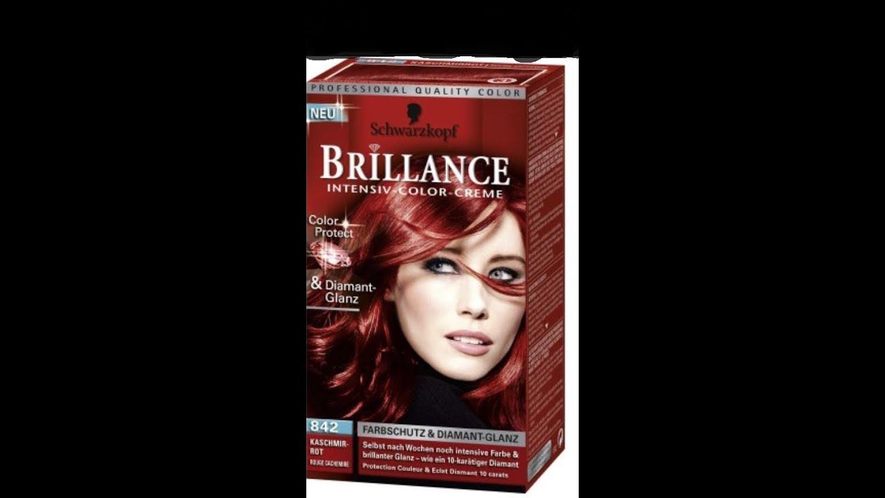 Haare farben dunkelbraun auf rot