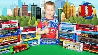 Міський транспорт і Поїзди для дітей. Відкриваємо іграшки машинки Трамвай, Тролейбус, Вагон Метро