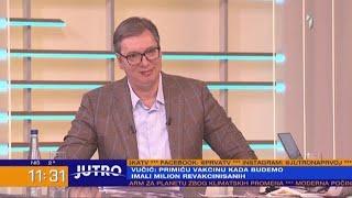 JUTRO - Vučić za TV Prva: Neće biti šokirana Srbija, već Evropa i svet | PRVA