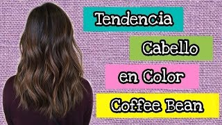 Tendencia cabello en color Coffee Bean