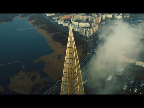 Лахта Центр в Санкт Петербурге в 4К
