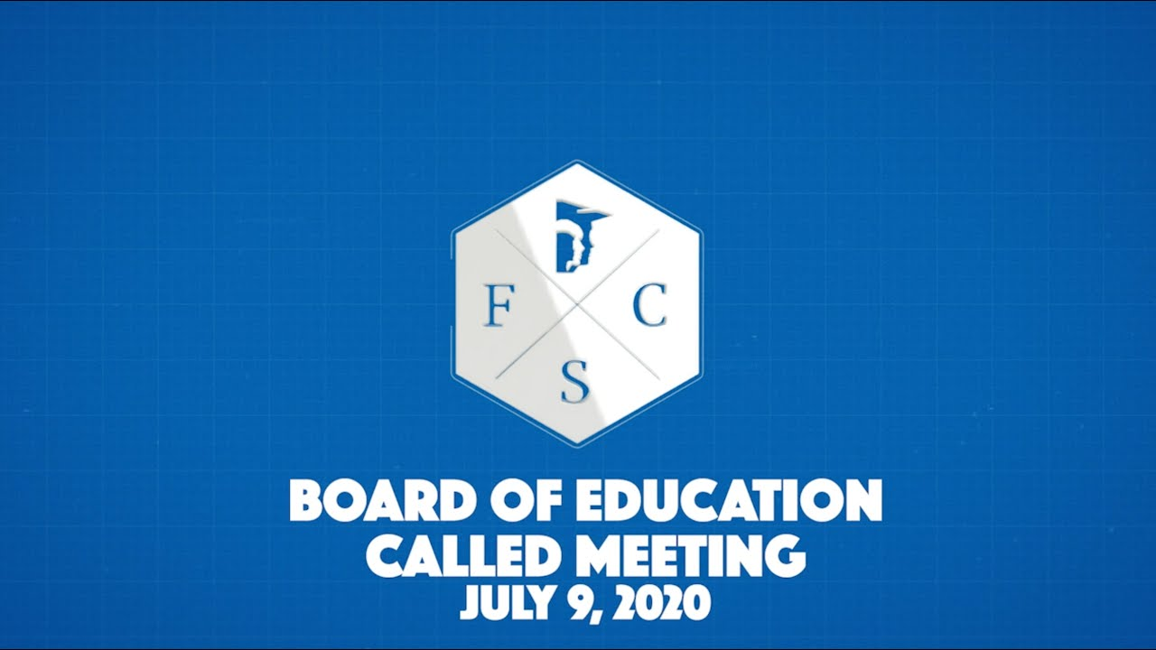Download Forsyth County Board of Education Called Meeting, July 9th, 2020