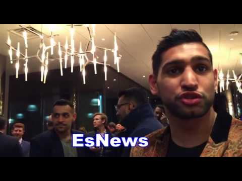 Amir Khan Says Anthony Joshua Has Been Messaging His Wife Es Boxing