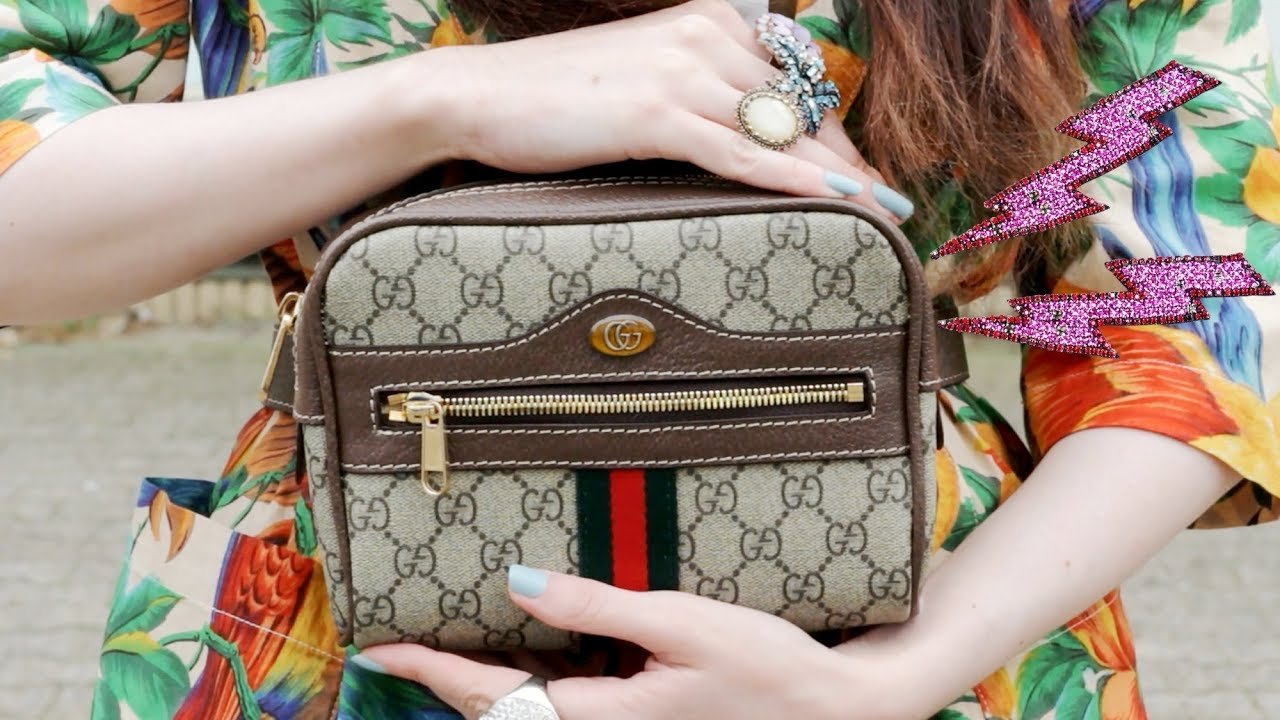 958619ad440c Gucci Ophidia GG Supreme Small Belt Bag (On-Body) |OOTD - YouTube