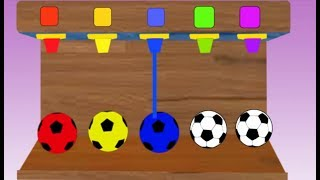 Learn Colors With Soccer Balls  Colors ||  Videos For Kids ||  Nursery Rhymes Collection