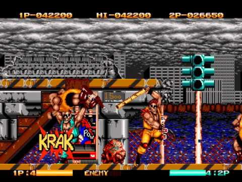 Two Crude Dudes Sega Genesis 2 player Netplay 60fps