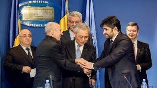 1/15/18: Conferință de presă susținută de prim-ministrul Mihai Tudose și ministrul Transporturilor.