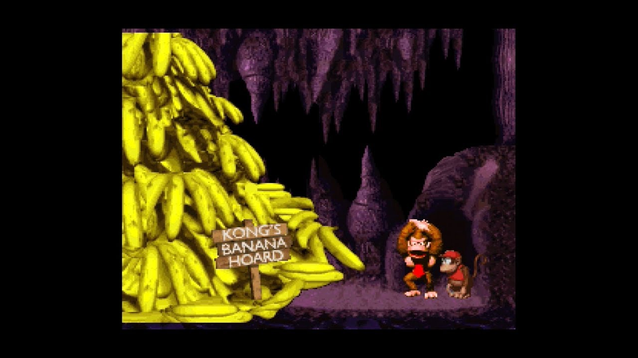 Donkey Kong Country - Kong's Banana Hoard - YouTube