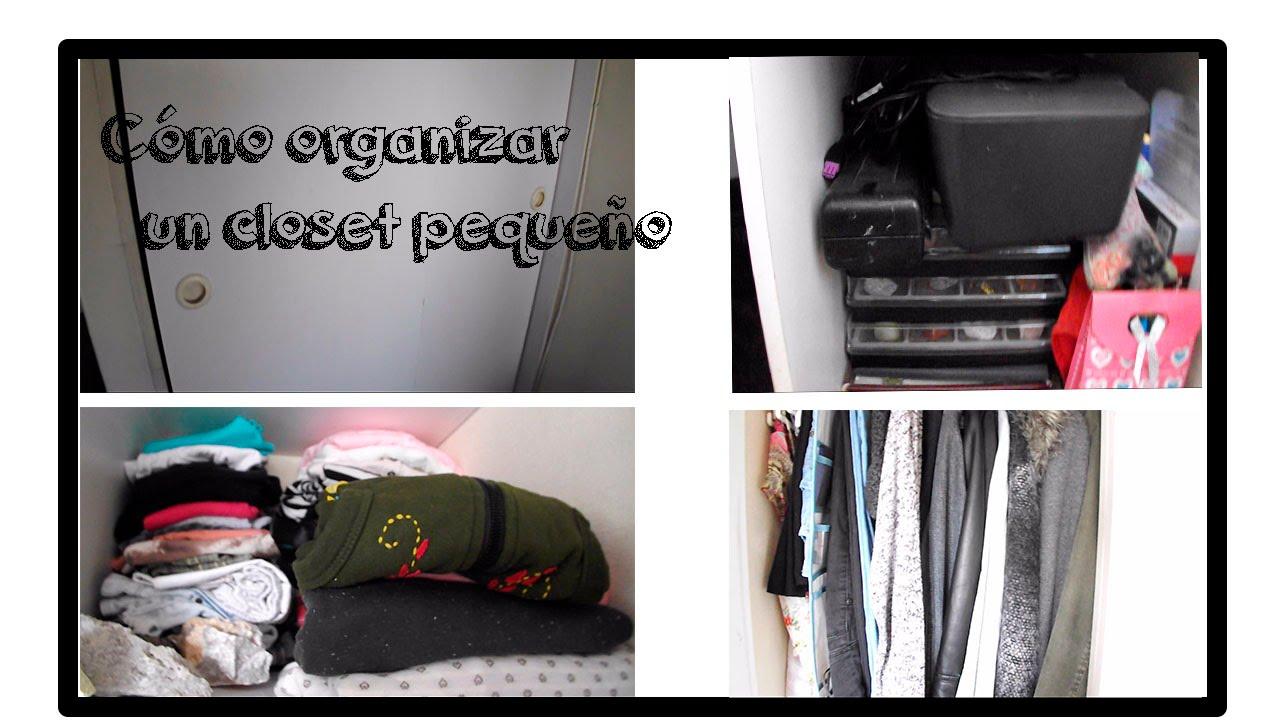 C mo organizar un closet peque o youtube for Como organizar un apartamento muy pequeno