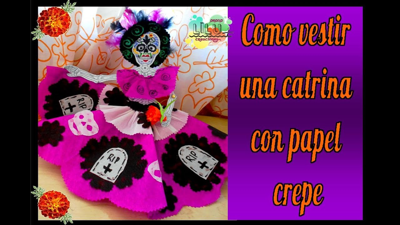 C mo vestir una catrina especial d a de muertos youtube for Como decorar una pared grande