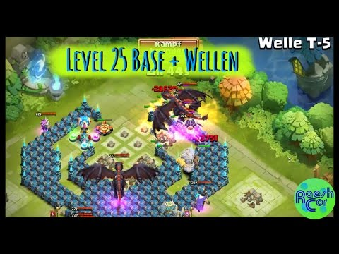 LEVEL 25 BASE ➤ Castle Clash Schloss Konflikt ಠ Rathaus/Townhall 25 + Welle T [Deutsch] RaeshCor
