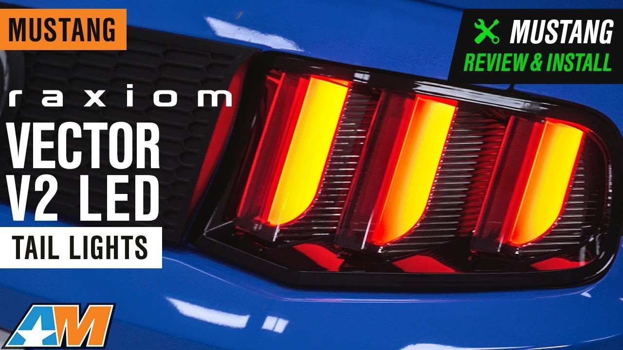 2010 2012 Mustang Raxiom Vector V2 Led Tail Lights Review Install