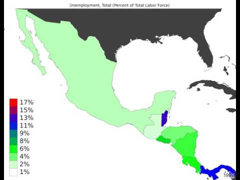 Central America - Unemployment, Total - Timelapse