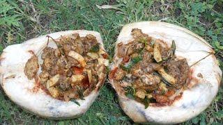 Cooking Tender Coconut Chicken in My Village - Farm Fresh Tender - Food Money Food