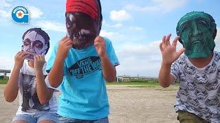 セリアのマスクで遊びました【がっちゃん】ハロウィン thumbnail