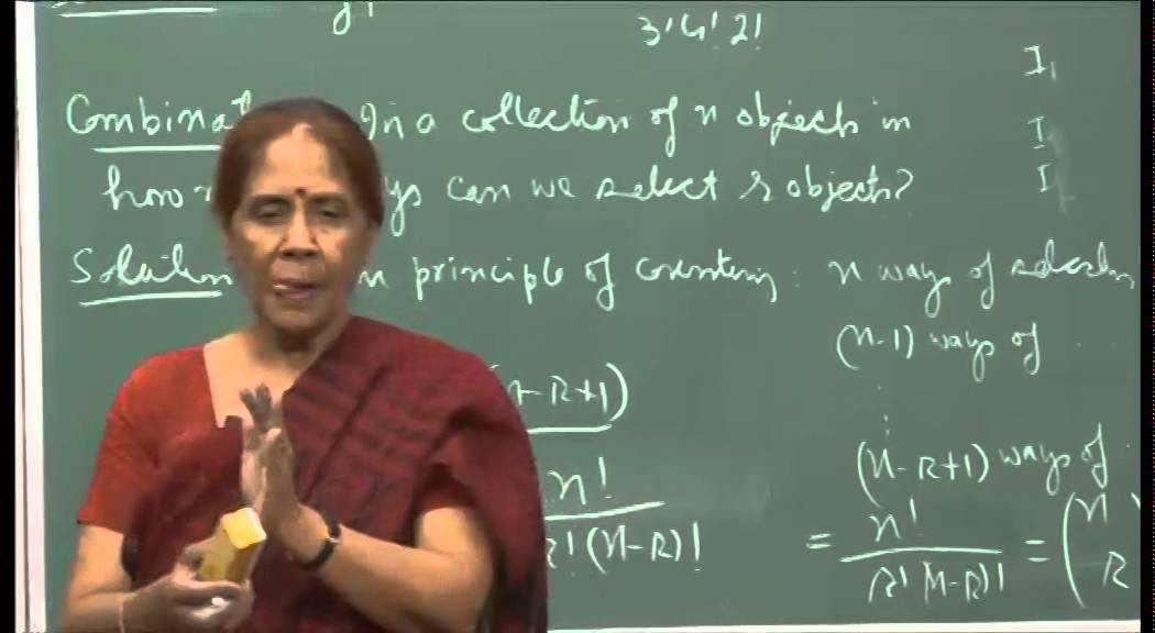 Mod-01 Lec-01 Basic principles of counting
