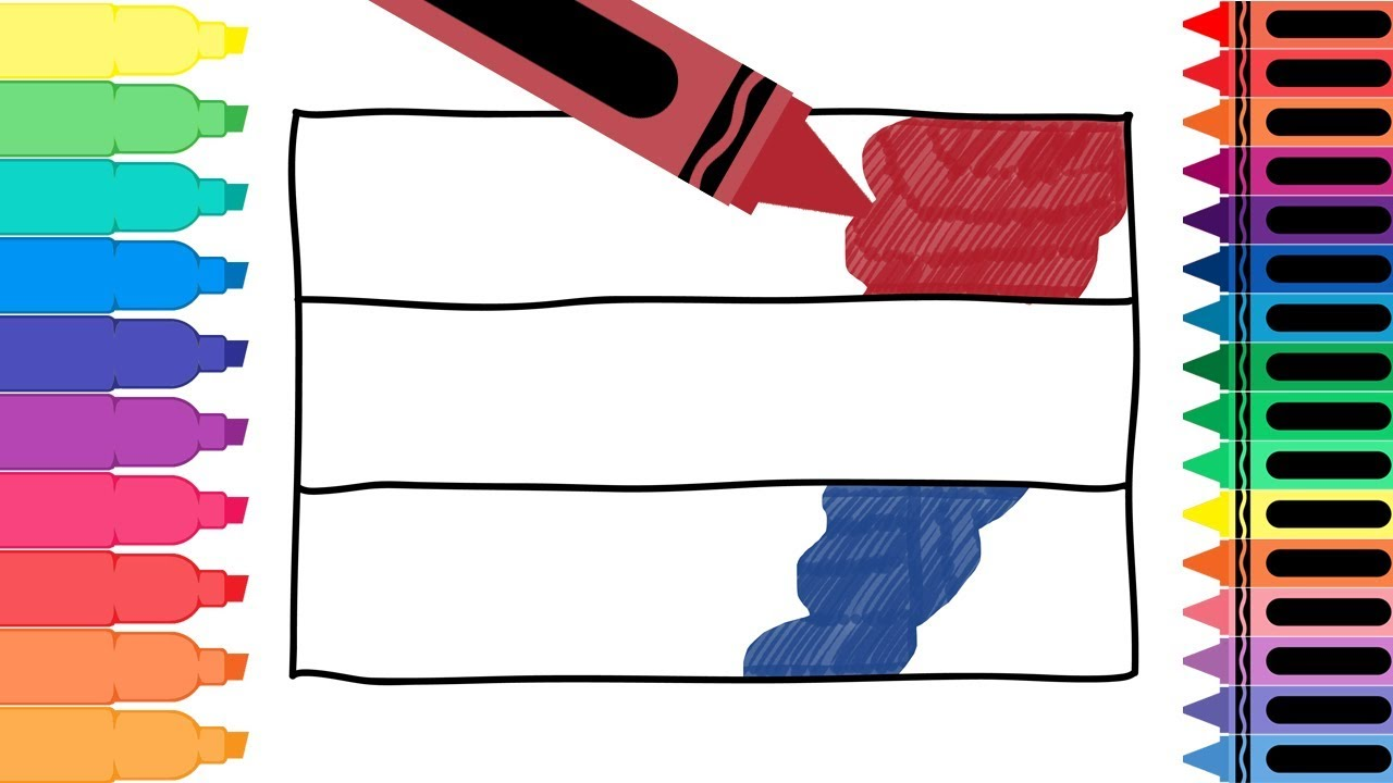 How To Draw Netherlands Flag