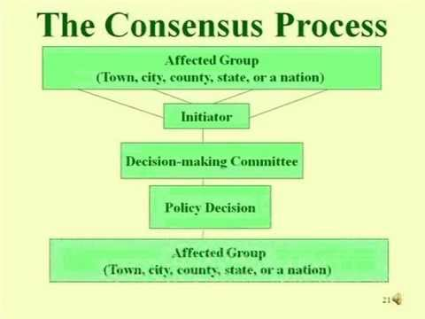 Consensus versus Democratic Process