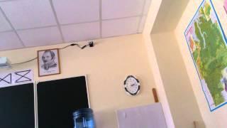 На уроке взорвалась камера наблюдения