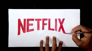 How to draw the Netflix logo