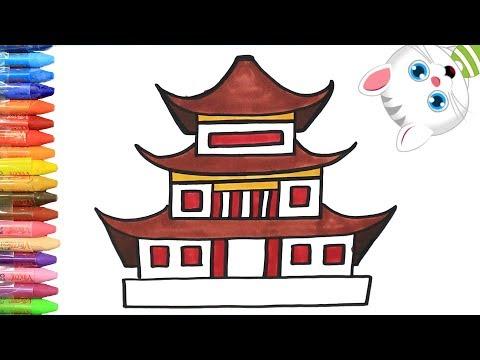 Как нарисовать китайский дом