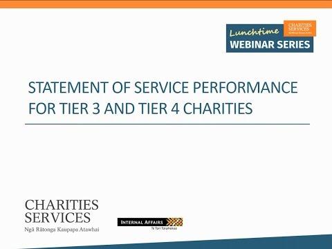 Understanding the Statement of Service Performance