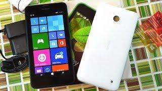 Распаковка Nokia Lumia 630 Dual SIM с дополнительной крышкой (unboxing)