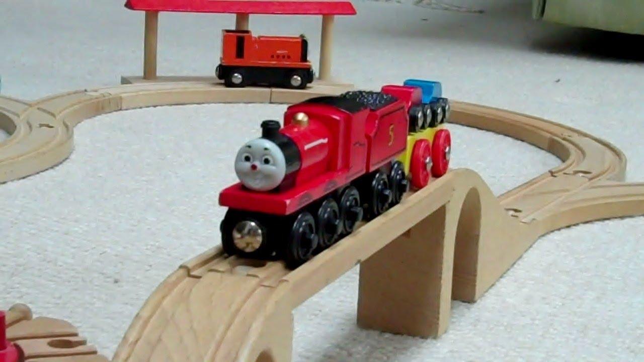 Lots Of Wooden Thomas The Train Kids Toy Train Set Thomas