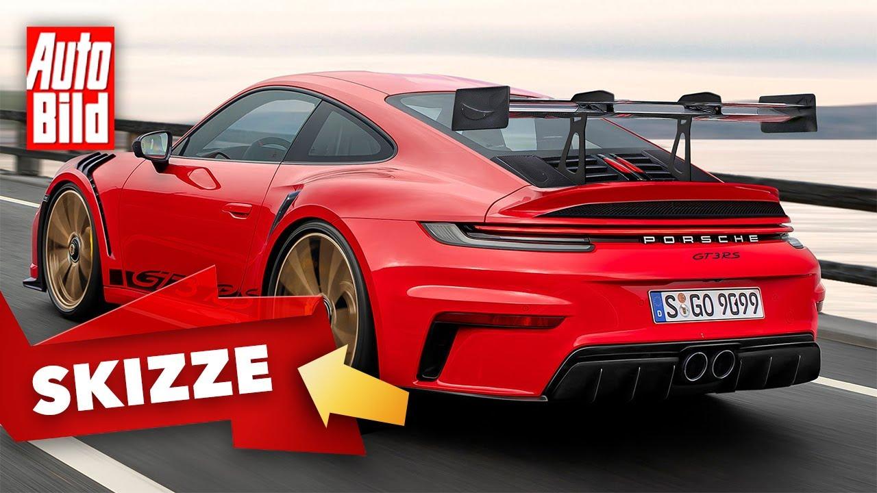 Porsche 911 GT3 RS (2021): Skizze - 992 - Neuvorstellung - Marktstart