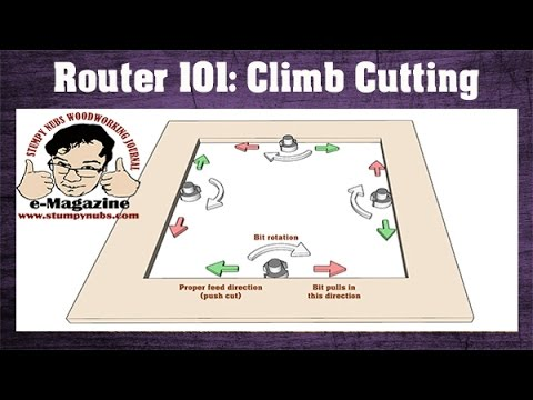 how to cut with a router