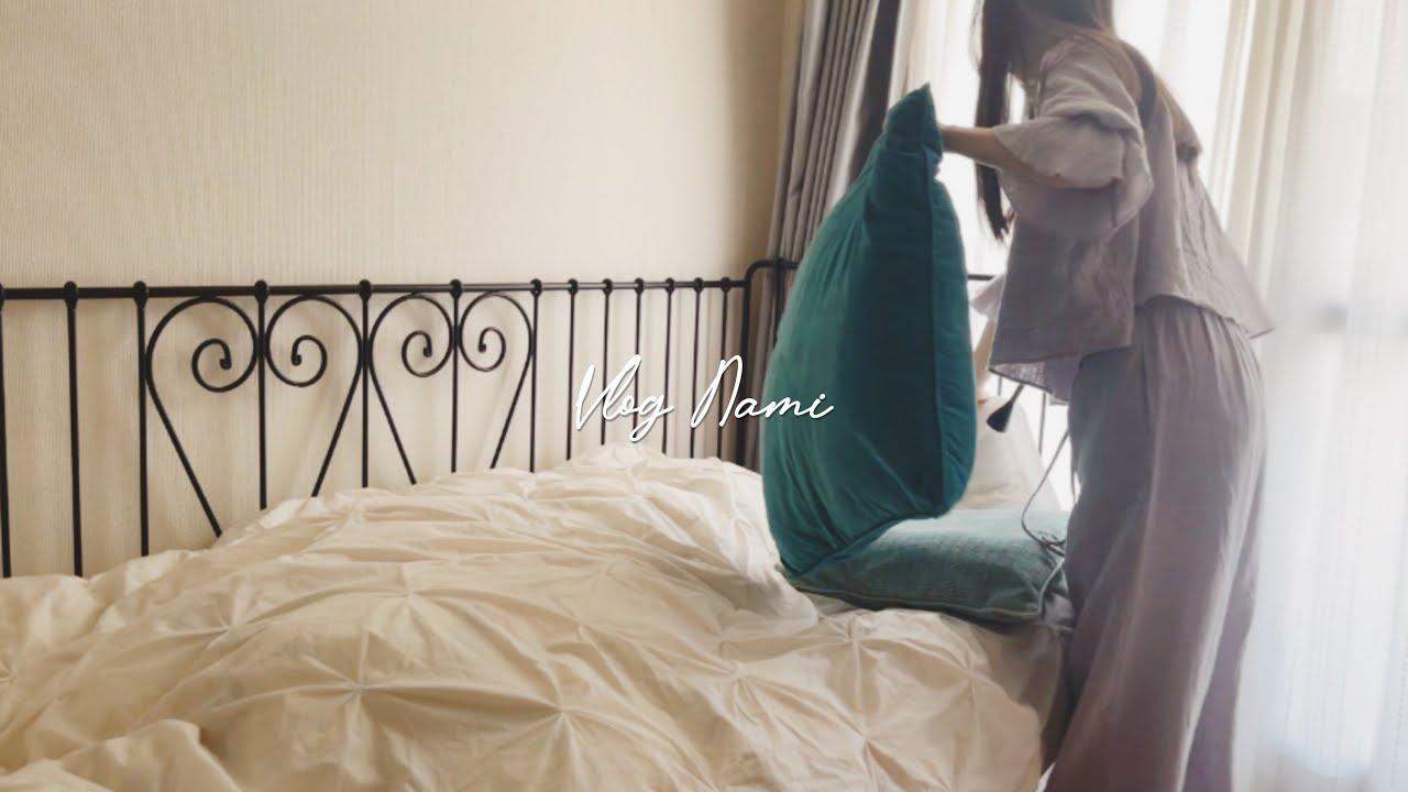 夏の準備🍍1人暮らしの小さな部屋の模様替えと衣替え|IKEA購入品|Getting my small room ready for the Summer VLOG