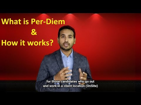 What Is Per Diem & How To Calculate