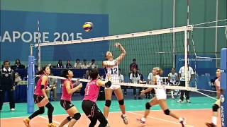 Seagames 2015 highlights women's Volleyball Malaysia VS Philippines