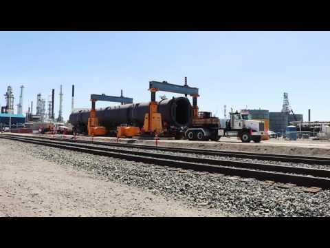 Energy Crane & Rigging - (4) 1 Million Pound Reactors - Gantry & Heavy Haul Project
