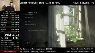 The Last of Us Speedrun World Record! (3:04:43) on Grounded mode (Glitchless)