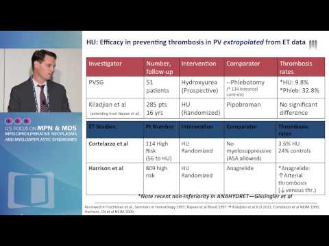 Treatment goals in Essential Thrombocythemia and Polycythemia vera