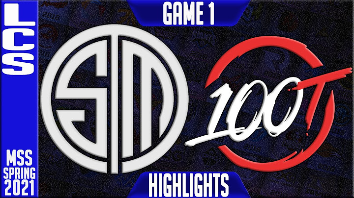 tsm vs 100 highlights game 1  lcs mss playoffs spring 2021 round 2  team solomid vs 100 thieves