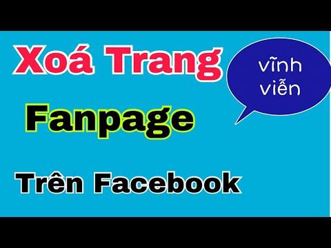 Cách xoá trang Fanpage trên facebook bằng điện thoại . Hoàng Định