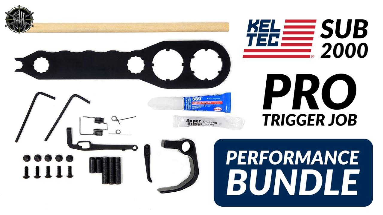 KEL TEC SUB 2000 Pro Trigger Job Performance Bundle | KEL TEC SUB 2000  Accessories!