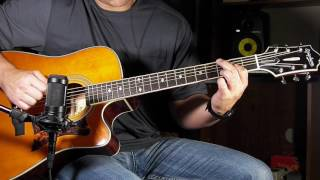 Epiphone Masterbuilt DR-500MCE Guitar Demo Review