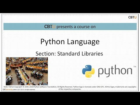 7 1 Python Standard libraries - YouTube