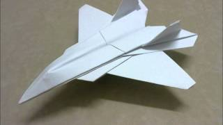 Origami F22 Raptor Without Cutting
