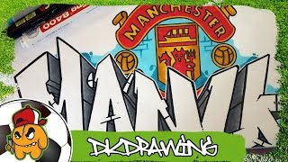 Football Graffiti Tutorials - How to draw a Manchester United Graffiti