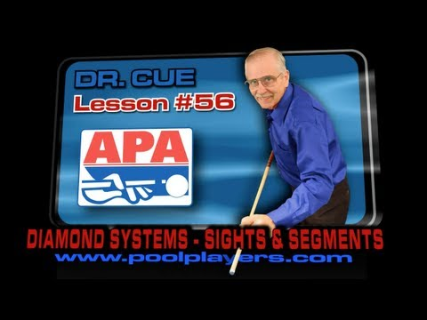 APA Dr Cue Lesson #56 -- Diamond Systems (Table Terminology -- Sights and Segments)!